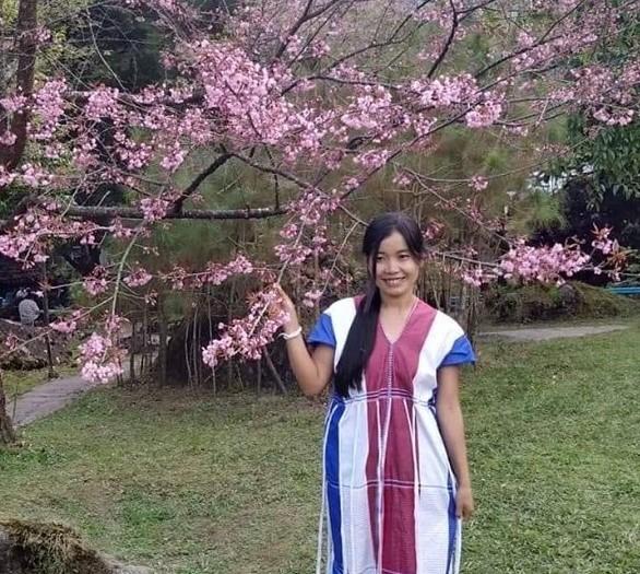 Muji in handmade Karen dress